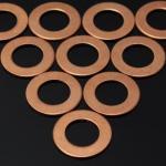 Arruela lisa de cobre